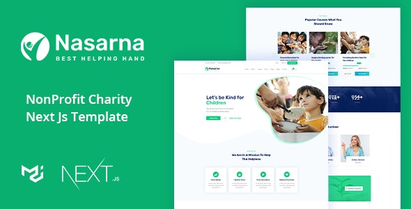 Nasarna - Charity Nonprofit Next Js Template - Charity Nonprofit