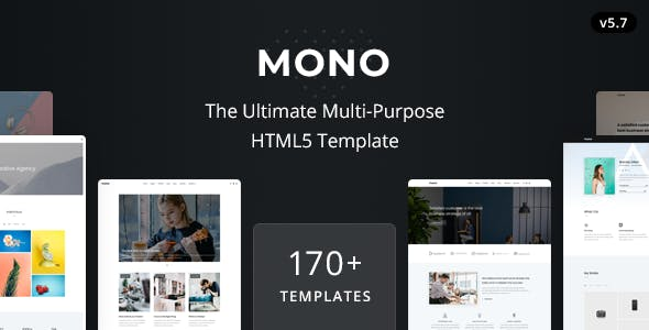 Mono - Multi-Purpose HTML5 Template