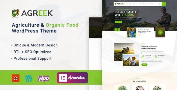 Agreek - Agriculture & Organic Food WordPress Theme - Food Retail