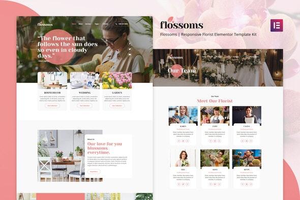 Flossom - Flower Shop Elementor Template Kit - Events & Entertainment Elementor