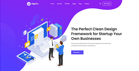 Digeco – Startup Agency HTML Template