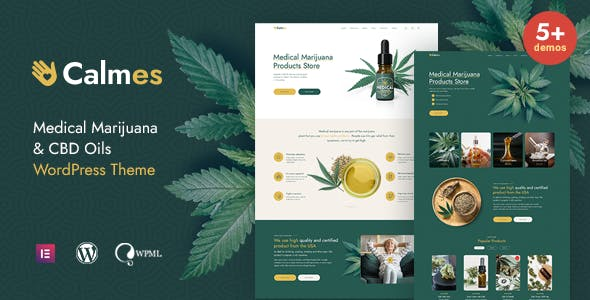 Calmes - Medical Marijuana & Coffeeshop WordPress Theme