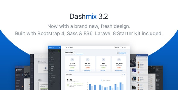 Dashmix - Bootstrap 4 Admin Dashboard Template & Laravel 8 Starter Kit - Admin Templates Site Templates