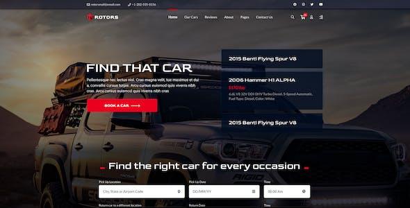 Rotors – Car Rental Template for Figma