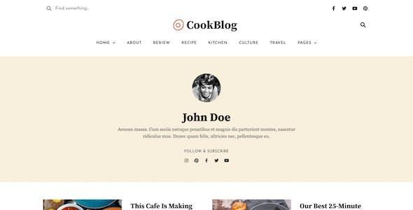 CookBlog – Food & Personal Blog Elementor Template Kit