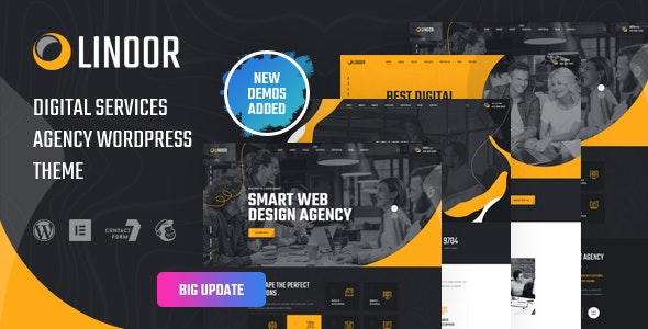 Linoor - Digital Agency Services WordPress Theme - Business Corporate