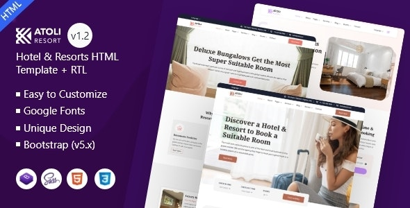 Atoli - Hotel & Resorts HTML Template - Travel Retail