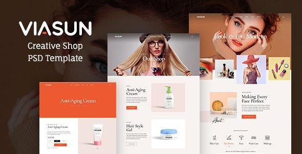 Viasun - Creative Cosmetic Store PSD - Health & Beauty Retail