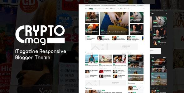 Crypto Mag - Magazine Responsive Blogger Theme - Blogger Blogging