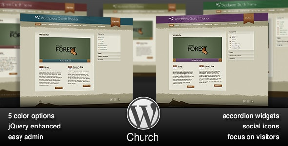 Church: WordPress Theme for Online Ministry - Churches Nonprofit