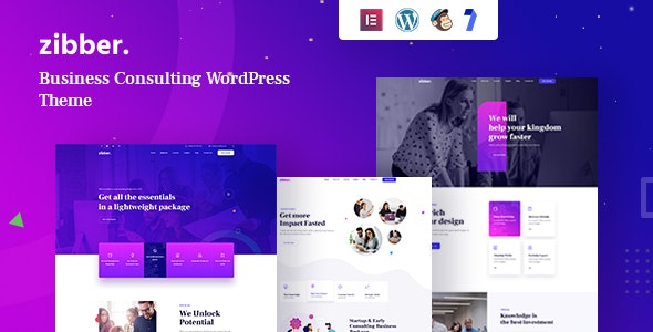 Zibber - Consulting Business WordPress Theme + RTL - Business Corporate