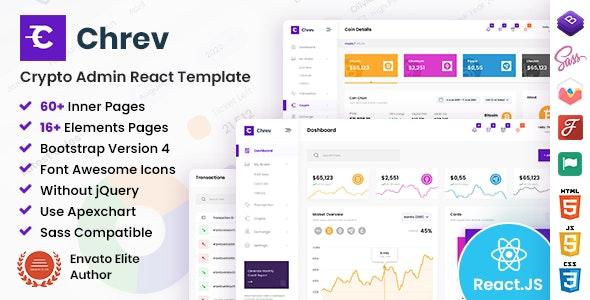 Chrev - Admin & Dashboard React Template - Admin Templates Site Templates