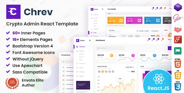 Chrev - Admin & Dashboard React Template