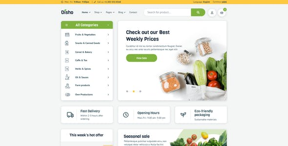 Disho – Grocery Store for Figma