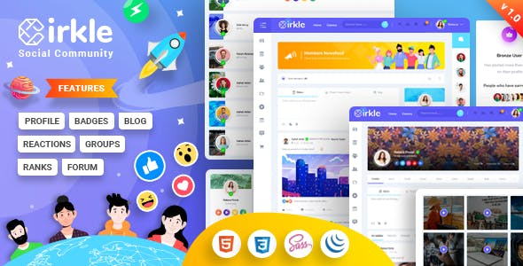 Cirkle – Social Networking HTML Template