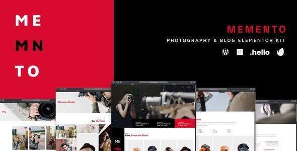 Memento - Photography & Blog Elementor Template Kit
