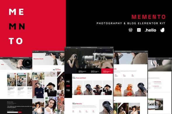 Memento - Photography & Blog Elementor Template Kit - Photography Elementor