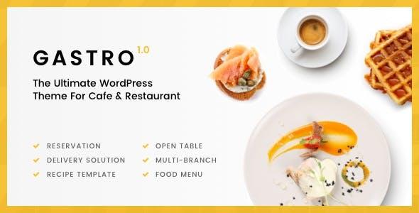 Gastro - Multipurpose Cafe & Restaurant WordPress Theme