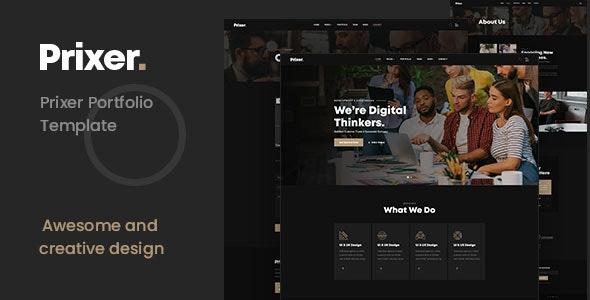 Prixer Creative Portfolio HTML Template - Creative Site Templates