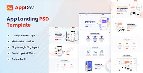 Appdev - App Landing PSD Template - Software Technology