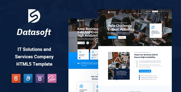 Datasoft - IT Solutions & Services HTML5 Template - Business Corporate