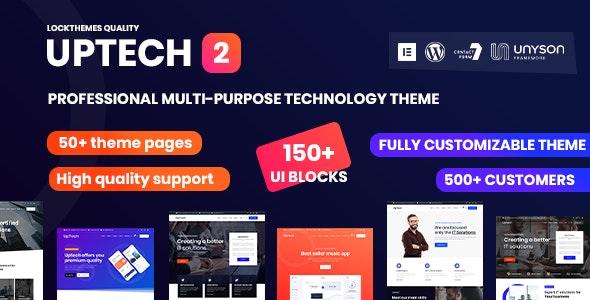 Uptech -  IT Solutions & Services WordPress Theme - Technology WordPress