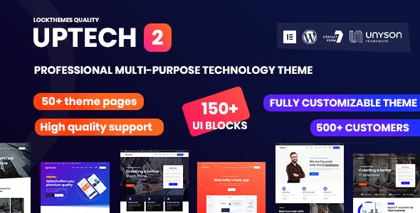 Uptech -  IT Solutions & Services WordPress Theme