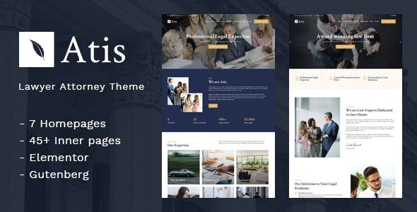Atis - Lawyers Advisors Business Theme - Business Corporate
