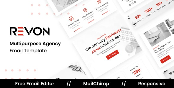 Revon Agency - Multipurpose Responsive Email Template - Newsletters Email Templates