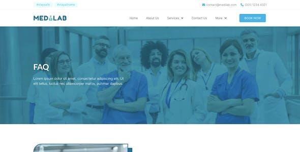 Medilab - Healthcare & Clinical Laboratory Elementor Template Kit