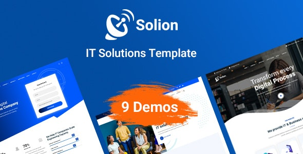 Solion - Technology & IT Solutions Template - Technology Site Templates