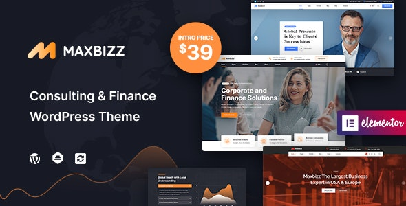 Maxbizz - Consulting & Financial Elementor WordPress Theme - Business Corporate