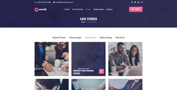 Consult - Consultancy Agency XD Template