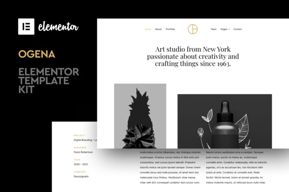 Ogena - Minimal Elementor Template Kit - Creative & Design Elementor