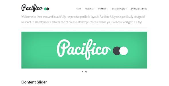 Pacifico — A Clean, Responsive Portfolio Layout