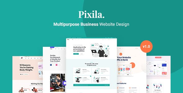 Pixila - Creative Multipurpose XD Template