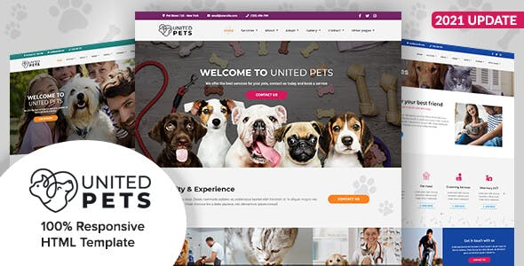 United Pets - Responsive HTML5 Template