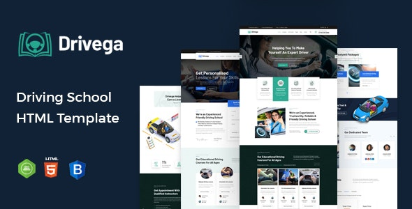 Drivega - Driving School HTML Template - Business Corporate