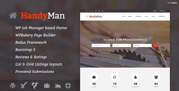 Handyman - Job Board WordPress Theme