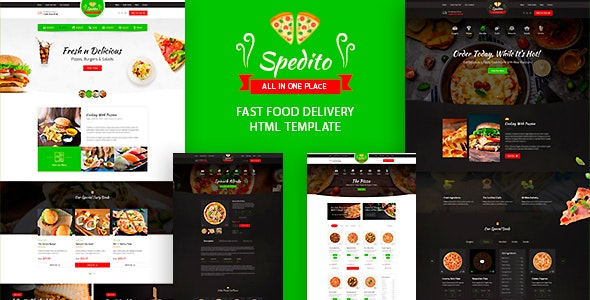Spedito - Ordering Fast Food HTML Template - Food Retail