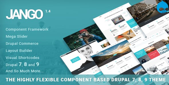 Jango | Highly Flexible Component Based Drupal 7, 8, 9 Theme