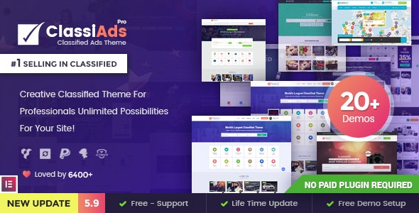 Classiads - Classified Ads WordPress Theme - Directory & Listings Corporate