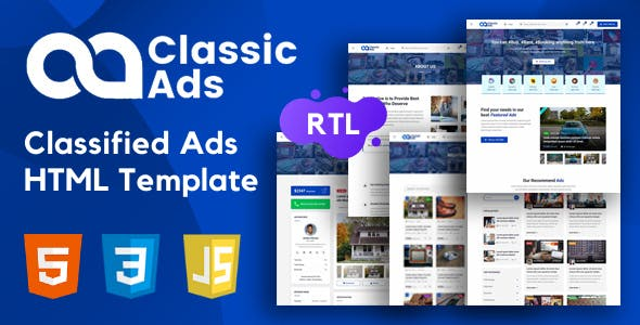 Classicads - Classified Ads HTML Template