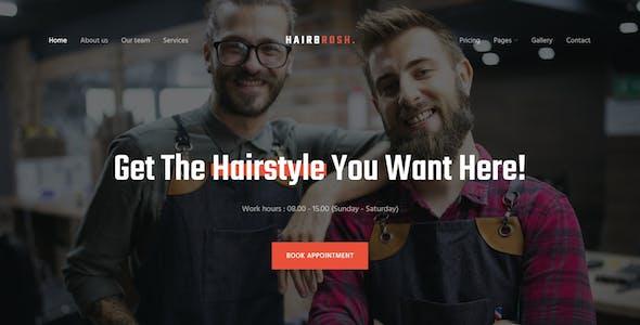 Hairbrosh - Barbershop Website Template