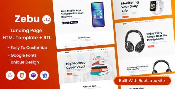 Zebu - Multipurpose Landing Page HTML Template