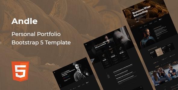 Andle - Personal Portfolio Bootstrap 5 Template - Portfolio Creative