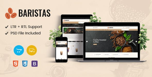 Baristas - Coffee Responsive OpenCart Theme
