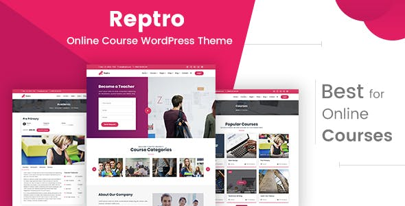 Reptro - Online Course WordPress Theme