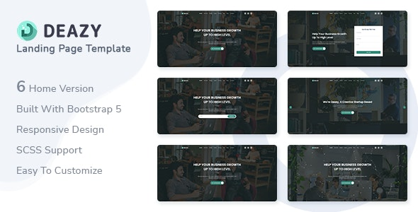 Deazy - Bootstrap 5 Landing Page Template - Landing Pages Marketing
