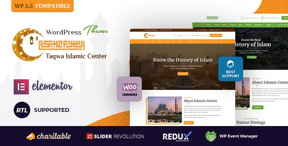 Taqwa - Islamic Center WordPress Theme